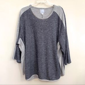 Sunday Silver Speckled Sweater Top